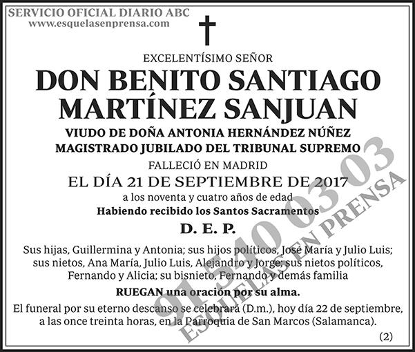 Benito Santiago Martínez Sanjuan